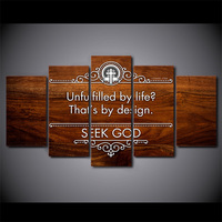 5 Piece HD Printed Christian Cross Islamic Motivational Framed Wall Picture Art Poster Painting On Canvas For Living Room