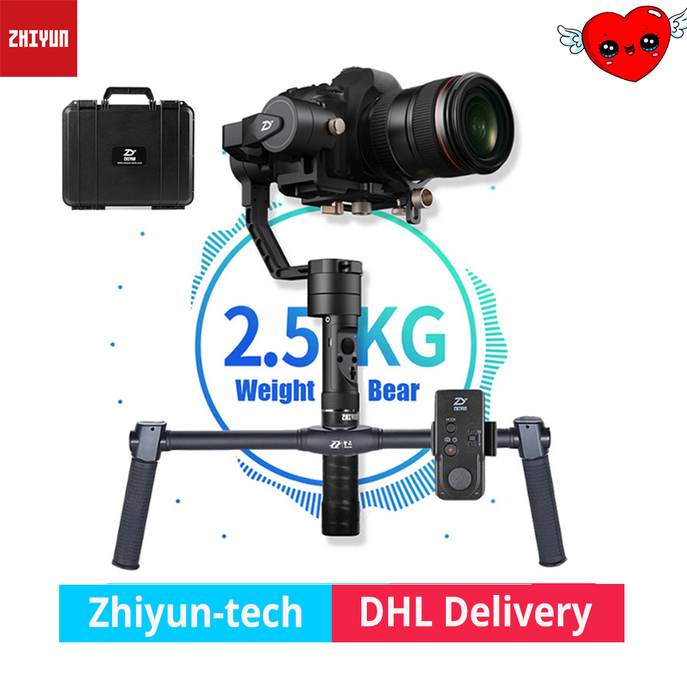 ZHIYUN Crane Plus 2.5KG bear 3 Axis Handheld DSLR camera Gimbal video steadicam for Nikon Canon Sony dual handle PK DJI Feiyu цена