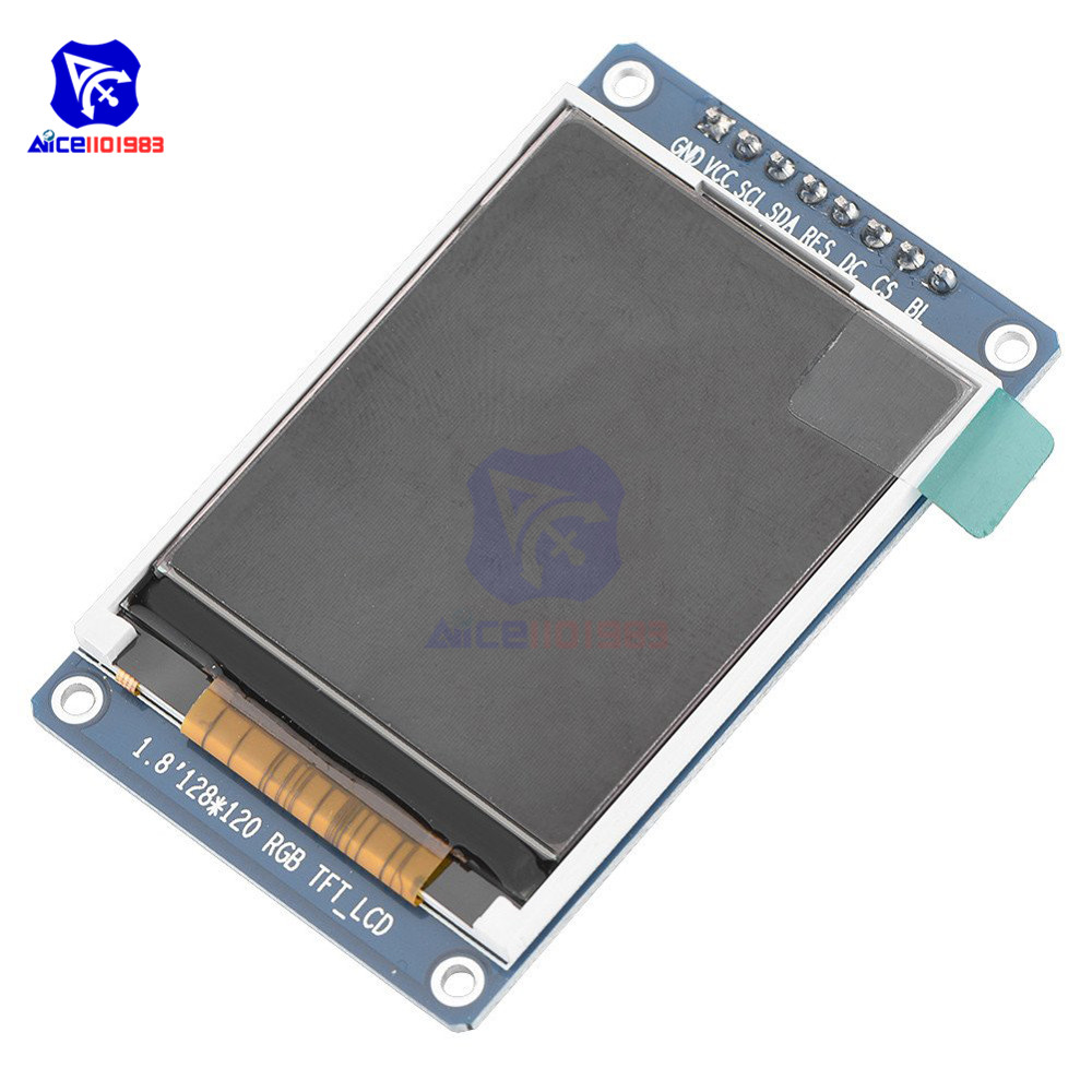 1.8 Inch 8Pin 128*160 RGB TFT LCD Screen Display Module SPI Interface ST7735 IC Driver For Andruio STM32 C51 3.3V LCD Display