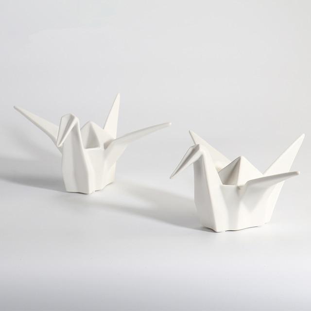 China White Paper Crane Origami Crane Figurine Ornaments Home