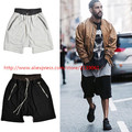 2016 new south Korean hip-hop fashion file zipper cut-off loose KANYE west  yeezy FEAR OF GOD Black, gray shorts M-XL