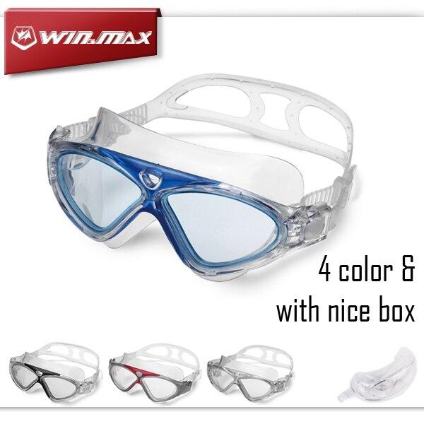 2015 Winmax Nuevo Profesional Anti vaho y Anti UV Gafas de natación para Adulto