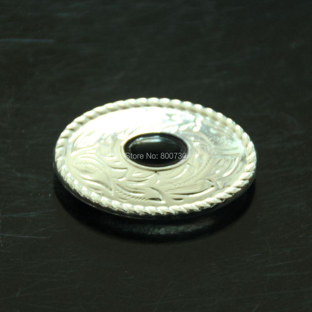 (KB302) 10-teiliger Western Prairie Dust Oval Concho Sterling-Silber - Kunst, Handwerk und Nähen