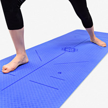 TPE Yoga Mat 6MM Non-slip Eco-friendly Pad For Sports Balance Guide Position Line Pilates Mat Fitness Gymnastics Dance Yoga Mats 1 pc fangcan tpe single layer standard yoga mat skin friendly non toxic and environmentally friendly