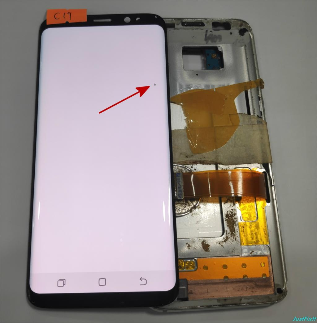 NO c19 For Samsung Galaxy S8 G950 G950U G950f G950fd shadow Lcd Display With Touch Screen
