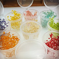 10pieces small plastic bucket 4X3X3.4cm Natural Gypsophila paniculat Dried flowers glass globe filler DIY more color to choose