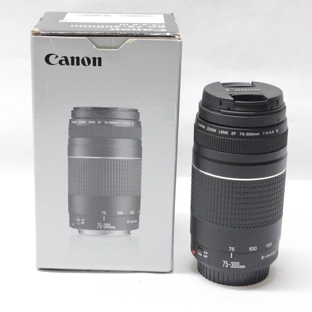 Canon camera lens EF 75-300mm F/4-5.6 III Téléobjectif Lentilles pour Canon 1300D 650D 600D 700D 800D 60D 70D 80D 200D 7D T6 T3i T5i