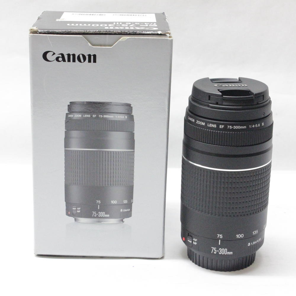 Objectif appareil photo Canon EF 75-300mm F/4-5.6 III Téléobjectifs pour 1300D 650D 600D 700D 800D 60D 70D 80D 200D 7D T6 T3i T5i