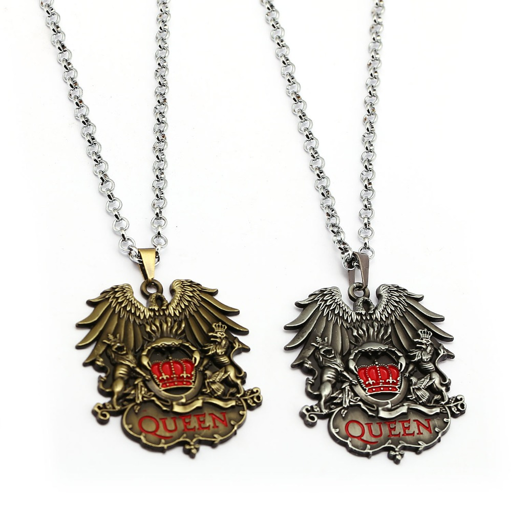 Other Queen Memorabilia Queen Rock Band Freddie Mercury Necklace Pendant Neck Chain Queen Metal Fob