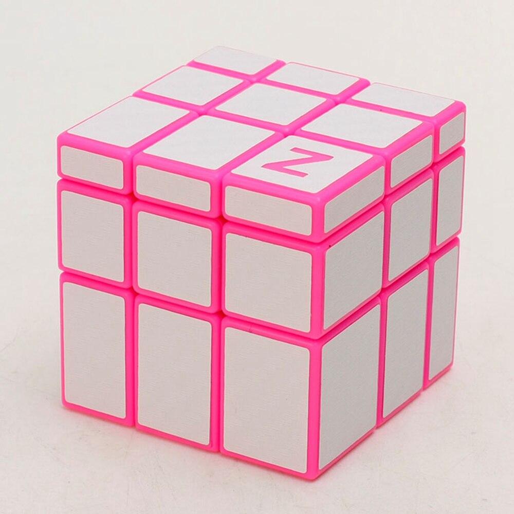 Zcube růžové tělo uhlíkové vlákno samolepky 3x3x3 Hra s povrchovou úpravou Speed Magic Cubes Puzzle hra Vzdělávací hračky pro děti Děti Baby
