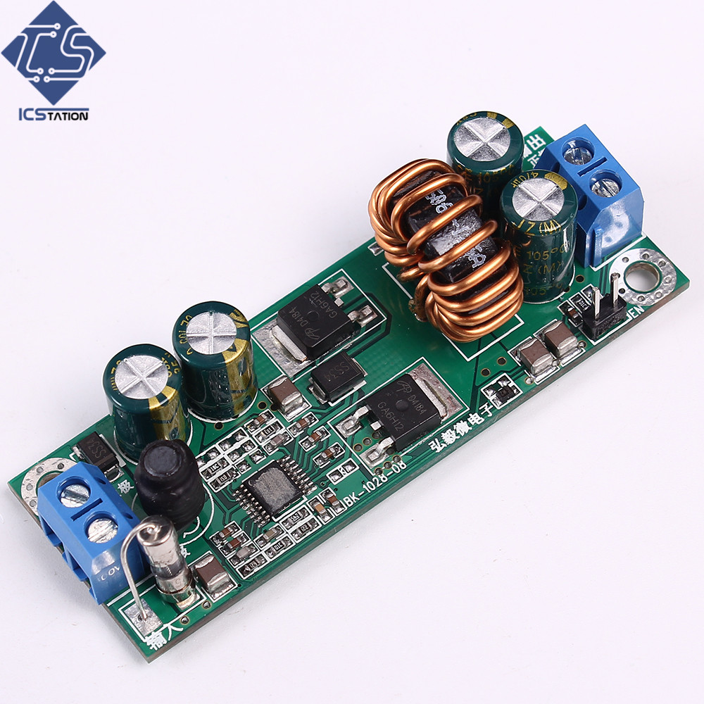 DC-DC Step-Down Buck Module Input Undervoltage Short Circuit Overheat Protection Precise DC 10-28V To 12V wcs1600 hall current sensors measuring 100a short circuit overcurrent protection module