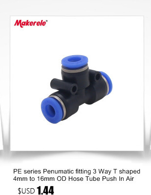 Size : PE 6 Without brand 10Pcs 3 Way T Shaped Tee Pneumatic PE 4mm to 16mm OD Hose Tube Push in Air Gas Fitting Quick Fittings Connector Adapters