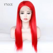 เส้นใยอุณหภูมิสูงผมสีแดงคอสเพลย์วิกผมกลางยาวปานกลางสังเคราะห์ปักด้านหน้า wigs สำหรับผู้หญิง