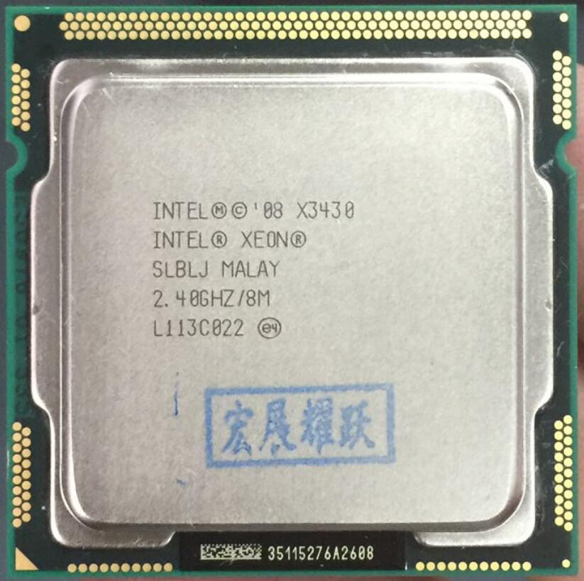 Processador Intel Xeon X3430 (8 3M Cache, 2.40 GHz) LGA1156 Desktop Processador CPU de Desktop 100% funcionando corretamente