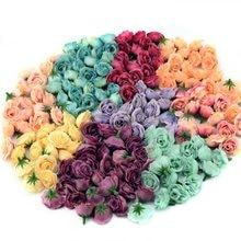 Mini têtes de roses artificielles en soie, 10/50/100 pièces, 2.5cm, fausses fleurs, pour décoration de mariage, maison, accessoires DIY