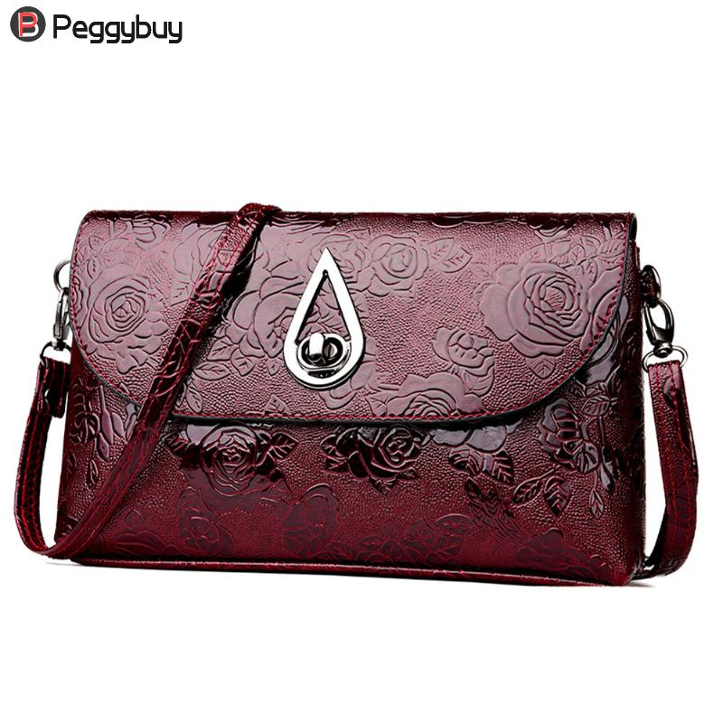Women Flower Pattern Tote PU Leather Messenger Bag Solid Vintage Luxury Shoulder Bag Fashionable Lady Clutch Crossbody Handbag fashionable women s tote bag with cover and pu leather design