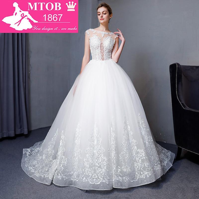 New Design Elgant Ball Gown Lace Wedding Dresses 2018