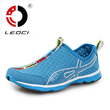 LEOCI Summer Breathable Running Shoes For Men Women Light Quick Dry Walking Water Shoes Outdoor Sneakers Athletic Sport Shoes