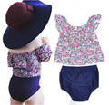 2 Pcs Floral Baby Girls Set New Arrivals Summer Collar Shirt + PP Pants Suit Children Clothing Sets Fashion Baby Outwear Clothes