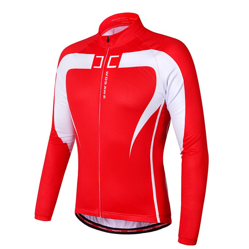 fcfb WOSAWE Thermal Fleece Cycling Jersey Winter Warm Up Bicycle Clothing Windproof Mountain Soft shell Coat MTB Bike Jackets veobike winter windproof thermal fleece reflective bike bicycle jersey warm cycling wind coat jackets pants set for men women
