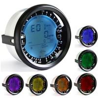 RPM 6 in 1 GPS Speedometer Tachometer Hour Water Temp Fuel Level Oil Pressure Volt Meter for boat motor Digital car accesorios