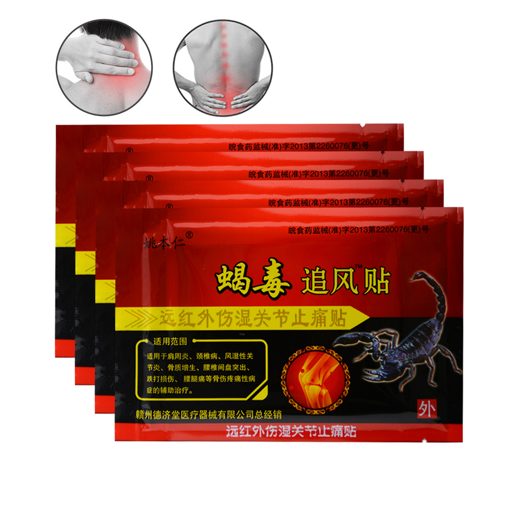 48Pcs Scorpion Venom Pain Relief Patches Ointment Joints Adhesive Plaster Arthritis Orthopedic Capsicum Medical Plasters C539