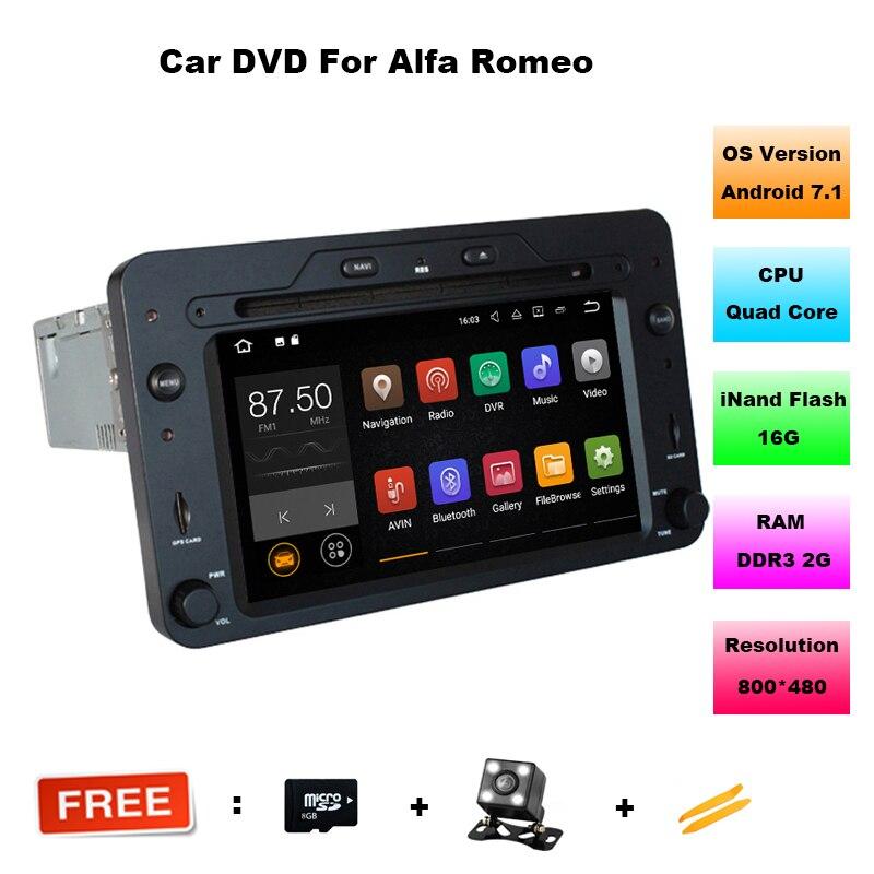 Quad Core Android 7.1.1 Auto DVD GPS für Alfa Romeo 159 Sportwagon Spinne Brera mit BT Wifi Radio RDS OBD support 4G/DAB +/DTV