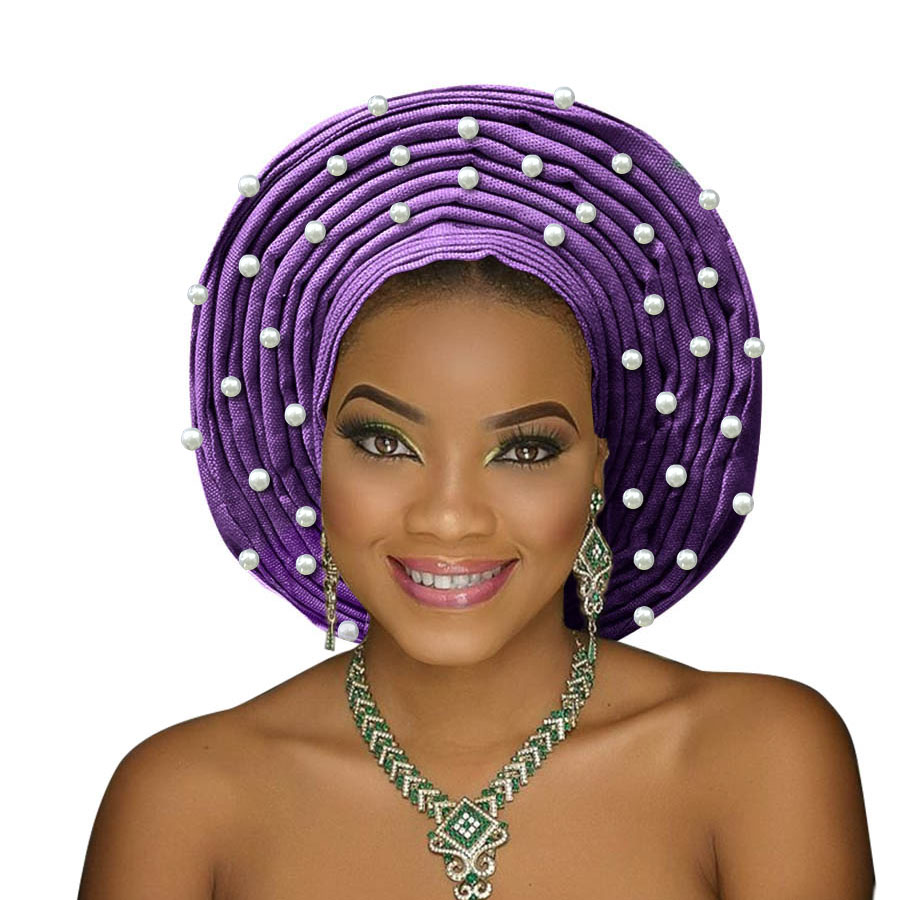 african headtie aso oke gele headtie african head wrap fashion nigerian aso ebi gele turban women aso oke head gear (1)