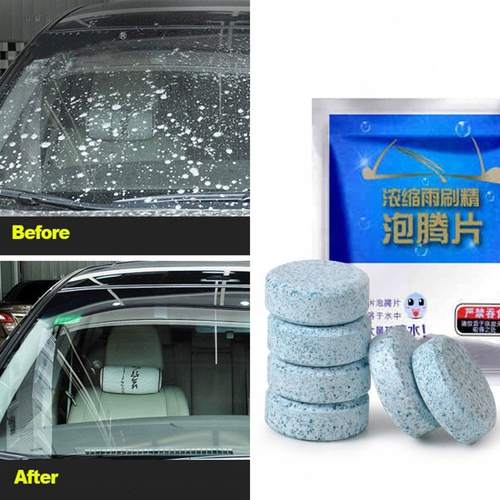 1PC/Pack(1PC=1 bottle of glass water)Car Solid Wiper Fine Seminoma Wiper Auto Window Cleaning Windshield Glass Car Accessories
