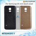 Для SM-G800 Замена Задняя Панель Корпуса Корпус крышка Батарейного Отсека Для Samsung Galaxy S5 mini Задняя Крышка 1 Шт. Бесплатная Доставка