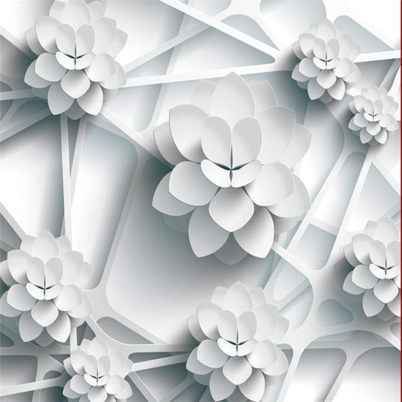 US $8.85 41% OFFBeibehang Wallpaper Kustom 3D Foto Mural Wallpaper Vektor  Tiga Dimensi Bunga Bingkai Langit langit 3D Wallpaper Papel De Parede-in