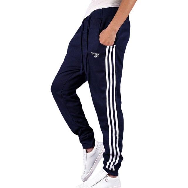 Autumn 2017 Mens Pants Cotton Trousers Haren Sweat Pants for Men Fashion Striped Joggers Gymshark Brand Clothing Sportswear