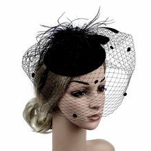 Ручная работа Большие женские перья Цветочные волосы чародей шляпа повязка на голову аксессуары Новые Fedoras