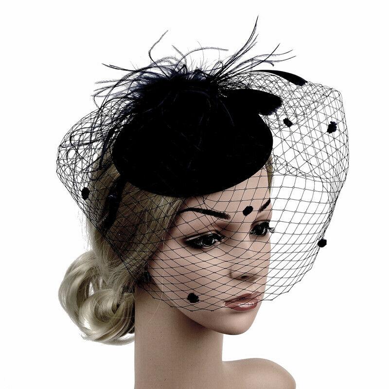 195.63руб. 10% СКИДКА|Большая Женская шляпка ручной работы с перьями и цветочным узором, повязка на голову, аксессуары, новинка, Fedoras|Женские фетровые шляпы| |  - AliExpress