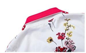 Image 5 - Più il Formato L 6XL Tuta A Due Pezzi Abiti Delle Donne Top A Manica Lunga e Pantaloni Lunghi di Modo di Autunno Stampa Floreale Delle Donne Set sportwear