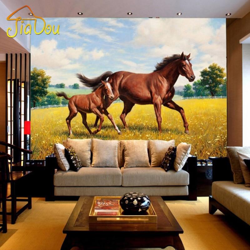 Custom wall mural wallpaper non woven tv backdrop for Sofa para sala de tv