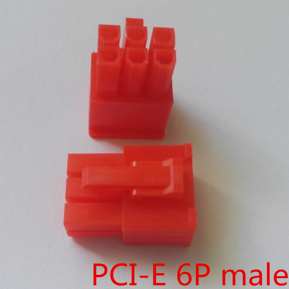 5557 4.2mm red 6P 6PIN male for PC computer ATX graphics card GPU PCI-E PCIe Power connector plastic shell Housing