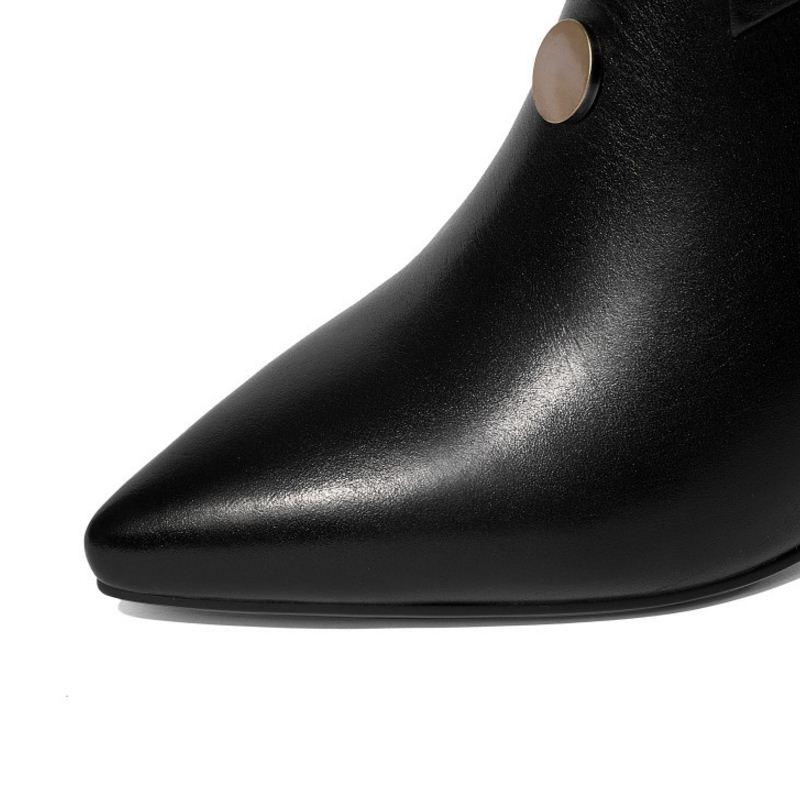 beige Oficina Tacón 32 Alto Genuino Tamaño Botas Beige Invierno Tobillo Fur Kemekiss 41 Cloth Cuero Zapatos black Moda Cloth Fur Para Hebilla Las Calzado Mujeres De black xT6ayOqgw7