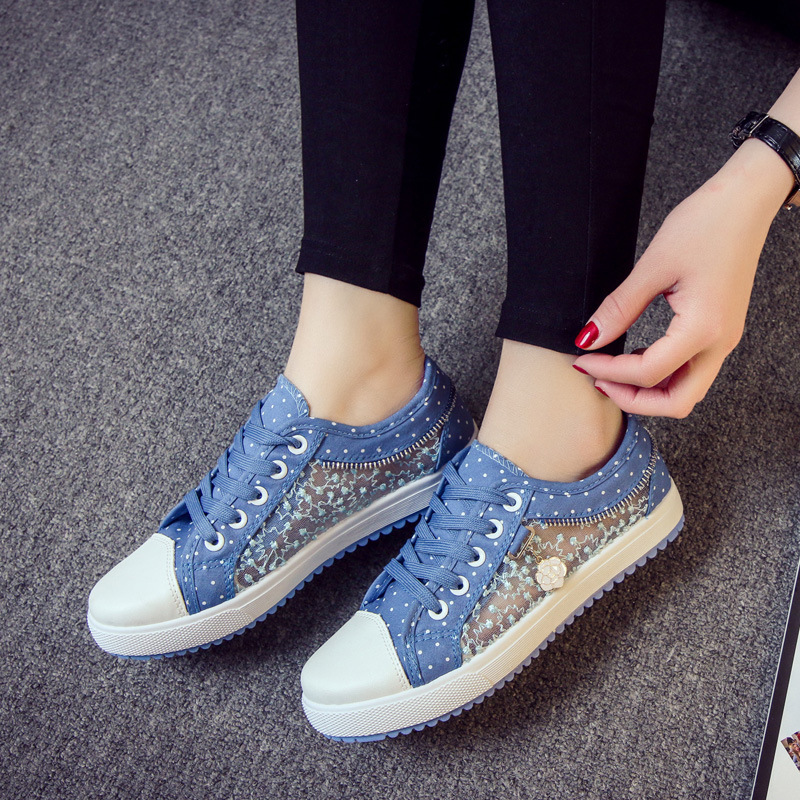 Spring summer 2017 new net yarn design women flats canvas shoes breathable comfortable and sexy lace platform woman flat shoes flats new women s shoes in spring and summer 2017 will be able to make comfortable and sweet flat footed women s shoes