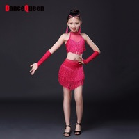 2015 NEw Women Latin Dance Skirt Tassel Cha Cha Ruma Samba Cowboy Salsa Dance Skirts Red