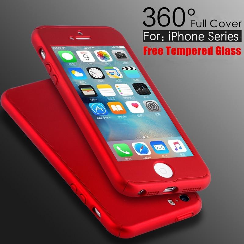 5 S SE Luxury 360 Bằng Bảo Hiểm Cứng PC Case Đối Với Apple iPhone 5 5 S SE  6 6 S 7 Cộng Với Mỏng Đầy Đủ Body Bìa + Màn ...