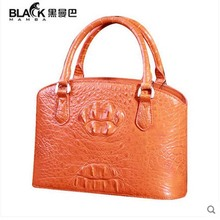 heimanba crocodile women handbag  European and American fashion Orange 2017 new Thai crocodile women bag