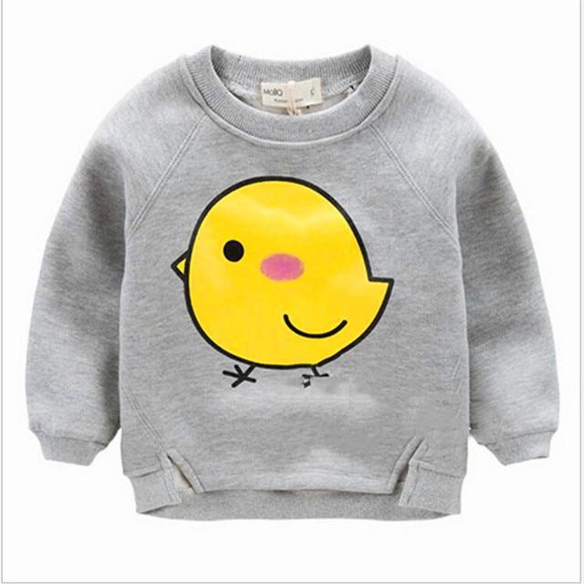 Детский мультфильм флис Хан издание досуг желтый цыпленок устанавливает круглым воротом с длинным рукавом добавить шерсть флис LMY1001