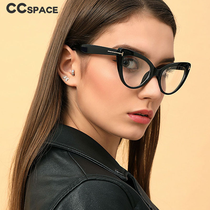 45131 Women Cat Eye Glasses Frames Fashion Computer Glasses Trending Styles Optical