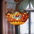 18 дюймов Американский Европейский анти кулон Тиффани лампа комната бар освещение кофе витражи модные креативные