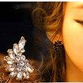 2017 Новых Корейских девушек-моделей темперамент маленькая луна серьги Оптовые Ювелирные Аксессуары Бесплатная Доставка кристаллические ювелирные изделия