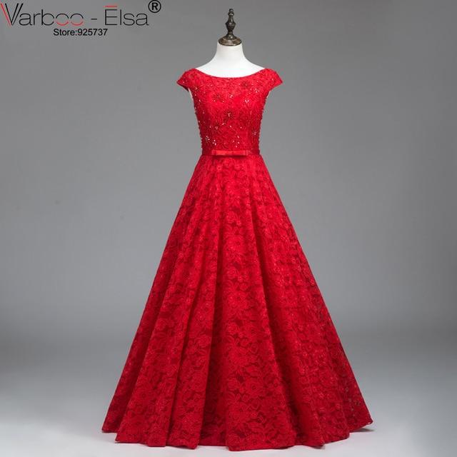 36c04b5cd2fb377 Fashion red prom dress 2018 beaded applique lace formal dress floor length  long evening gowns vestidos de noche largos elegantes