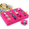 Free shipping Ice Patterned Quality Velvet Watch Plate Bracelet Holder 12 Small Pillow Jewelry Pallet Bracelet Box Storage Props