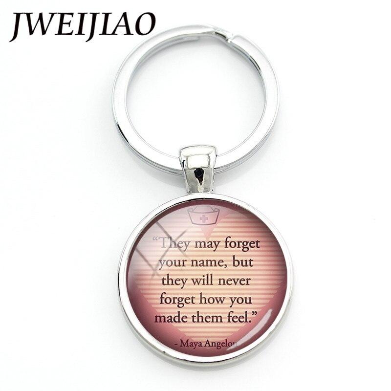 JWEIJIAO Nurse's Day Jewelry Custom Nurse Keychain Key Chain Keyring Thanksgiving Doctor Nurse Physicians Medical Gift DO18