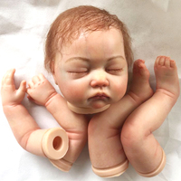 22inch simulation Model Kit Soft Silicone Reborn Mold Head Arms Legs BeBe Lifelike DIY Babies Bebe Doll Kit Mould Accessories